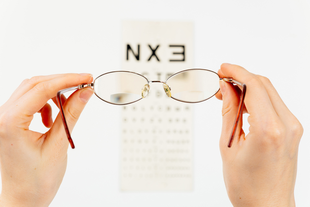 Eyeglasses and an Eye Chart